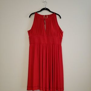 David's Bridal Red Cocktail Party Dress